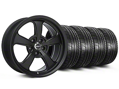 Staggered Mickey Thompson SC-5 Flat Black Wheel & Mickey Thompson Tire Kit - 17x9/10 (99-04 All)