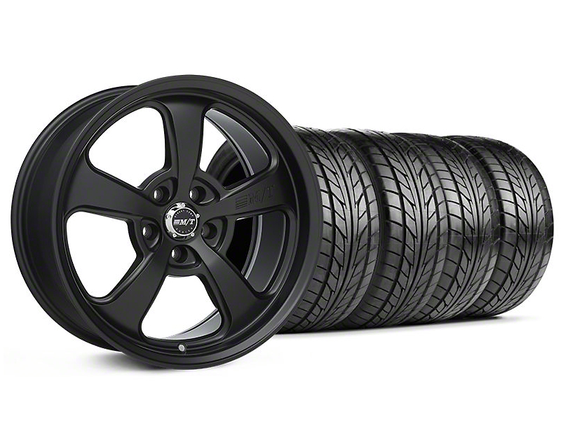 Staggered Mickey Thompson SC-5 Flat Black Wheel & NITTO Tire Kit - 18x9/10.5 (94-98 All)