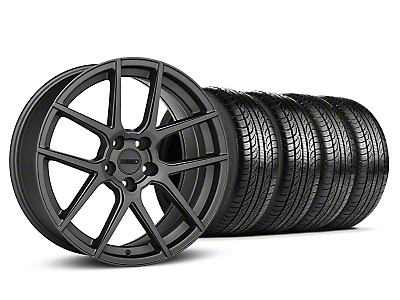 MMD Staggered Zeven Charcoal Wheel & Pirelli Tire Kit - 19x8.5/10 (05-14 All)