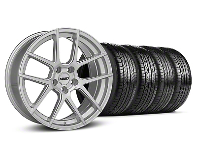 MMD Staggered Zeven Silver Wheel & Pirelli Tire Kit - 19x8.5/10 (05-14 All)