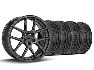 MMD Staggered Zeven Charcoal Wheel & Sumitomo Tire Kit - 19x8.5/10 (05-14 All)