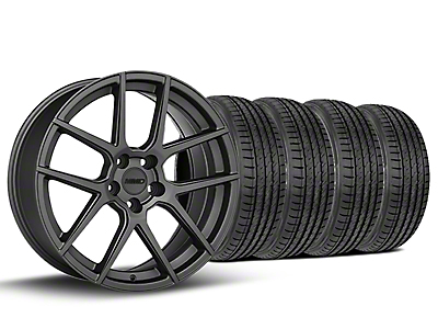 Staggered MMD Zeven Charcoal Wheel & Sumitomo Tire Kit - 19x8.5/10 (05-14 All)