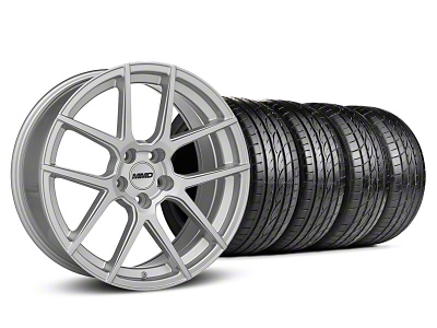 MMD Staggered Zeven Silver Wheel & Sumitomo Tire Kit - 19x8.5/10 (05-14 All)
