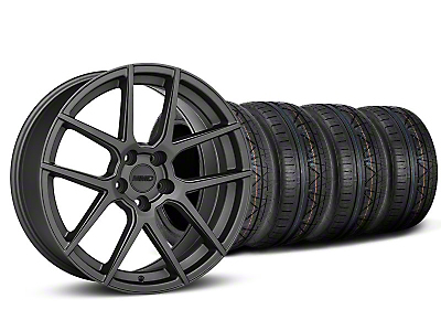 MMD Staggered Zeven Charcoal Wheel & NITTO INVO Tire Kit - 19x8.5/10 (05-14 All)