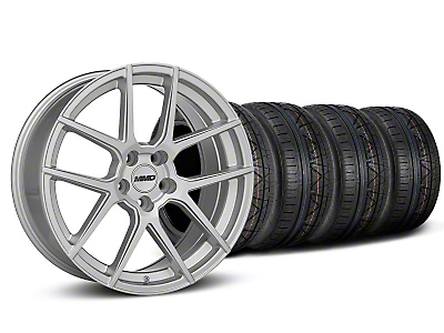 MMD Staggered Zeven Silver Wheel & NITTO INVO Tire Kit - 19x8.5/10 (05-14 All)