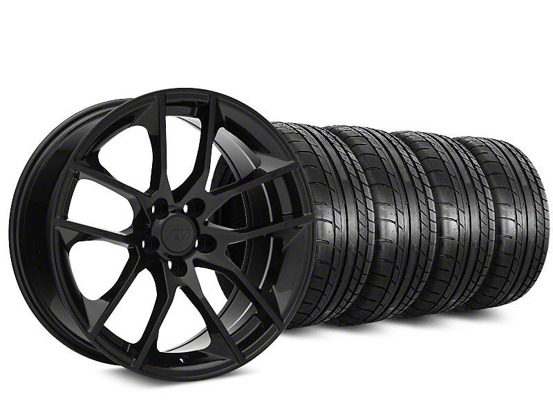 2015 Mustang GT Style Black Wheel & Mickey Thompson Tire Kit - 19x8.5 (05-14)