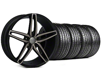 Staggered Foose Stallion Double Dark Wheel & Sumitomo Tire Kit - 20x8.5/10 (05-14 All)