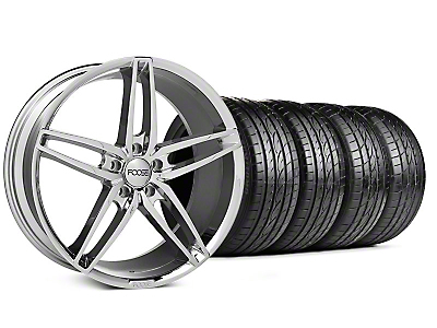 Foose Staggered Stallion Chrome Wheel & Sumitomo Tire Kit - 20x8.5/10 (05-14 All)