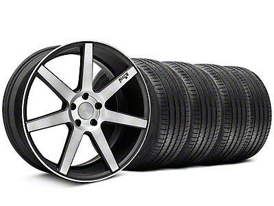 Niche Staggered Verona Black Double Dark Wheel & Sumitomo Tire Kit - 20x9/10 (05-14 All)