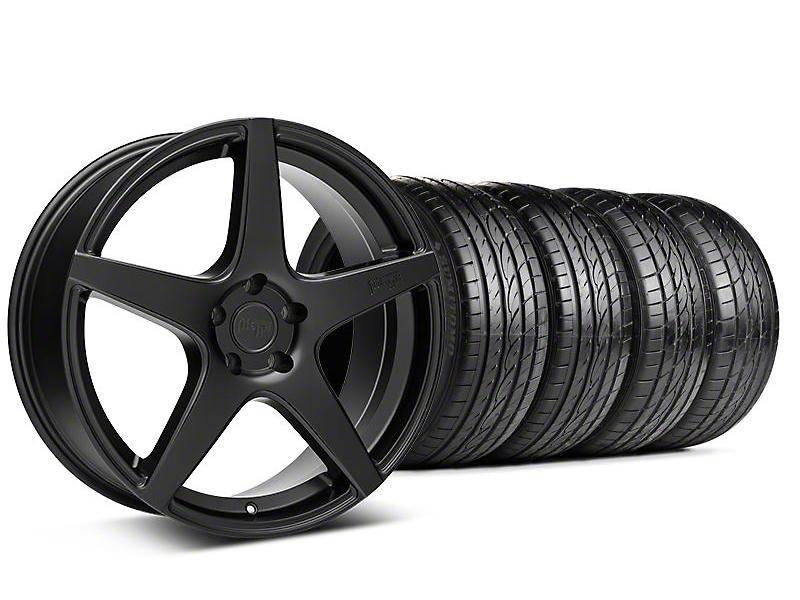 Niche Staggered Matte Black GT5 Wheel & Sumitomo Tire Kit - 20x8.5/10.5 (05-14 All)