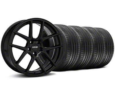MMD Staggered Zeven Black Wheel & Sumitomo Tire Kit - 20x8.5/10 (05-14 All)