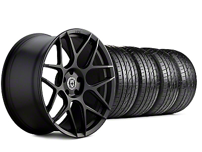 HRE Staggered Flowform FF01 Tarmac Black Wheel & Sumitomo Tire Kit - 20x9.5/10.5 (05-14 All)