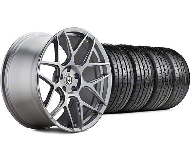 HRE Staggered Flowform FF01 Liquid Silver Wheel & Sumitomo Tire Kit - 20x9.5/10.5 (05-14 All)