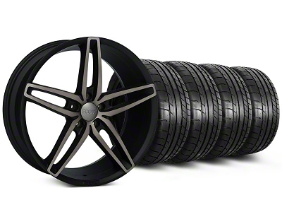Foose Staggered Stallion Double Dark Wheel & Mickey Thompson Tire Kit - 20x8.5/10 (05-14 All)