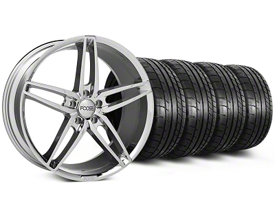 Foose Staggered Stallion Chrome Wheel & Mickey Thompson Tire Kit - 20x8.5/10 (05-14 All)