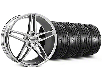 Foose Staggered Stallion Chrome Wheel & Mickey Thompson Tire Kit - 20x8.5/10 (05-14 All)