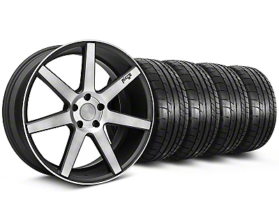 Niche Staggered Verona Black Double Dark Wheel & Mickey Thompson Tire Kit - 20x9/10 (05-14 All)