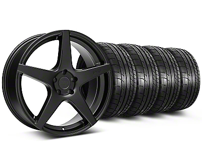 Niche Staggered Matte Black GT5 Wheel & Mickey Thompson Tire Kit - 20x8.5/10.5 (05-14 All)