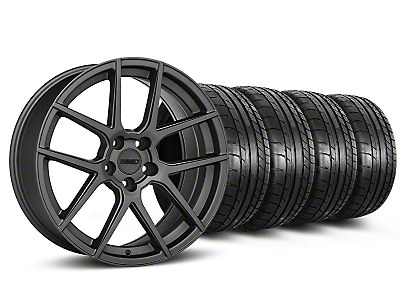 MMD Staggered Zeven Charcoal Wheel & Mickey Thompson Tire Kit - 20x8.5/10 (05-14 All)