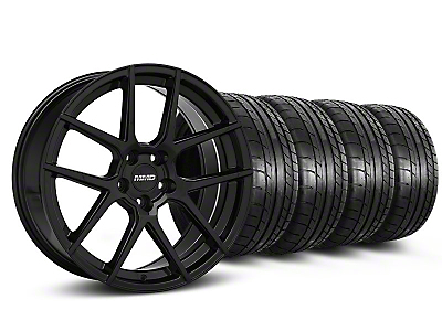 MMD Staggered Zeven Black Wheel & Mickey Thompson Tire Kit - 20x8.5/10 (05-14 All)