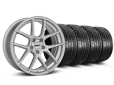 MMD Staggered Zeven Silver Wheel & Mickey Thompson Tire Kit - 20x8.5/10 (05-14 All)