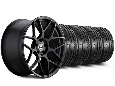 HRE Staggered Flowform FF01 Tarmac Black Wheel & Mickey Thompson Tire Kit - 20x9.5/10.5 (05-14 All)