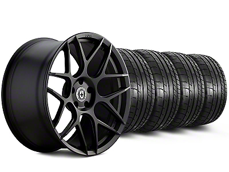 HRE Staggered Flowform FF01 Tarmac Black Wheel & Mickey Thompson Tire Kit - 20x9.5/10.5 (05-14 All)
