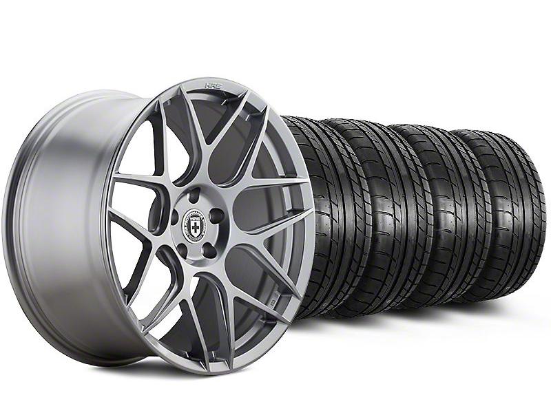 HRE Staggered Flowform FF01 Liquid Silver Wheel & Mickey Thompson Tire Kit - 20x9.5/10.5 (05-14 All)