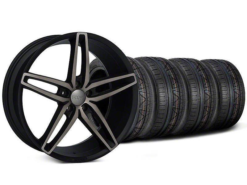 Staggered Foose Stallion Double Dark Wheel & NITTO Invo Tire Kit - 20x8.5/10 (05-14 All)