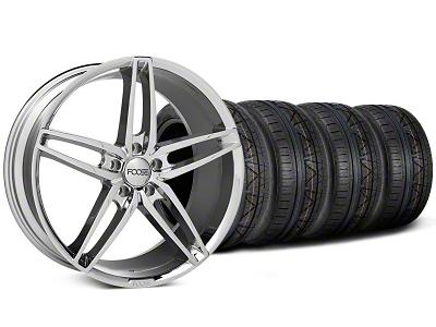 Foose Staggered Chrome Stallion Wheel & NITTO Invo Tire Kit - 20x8.5/10 (05-14 All)