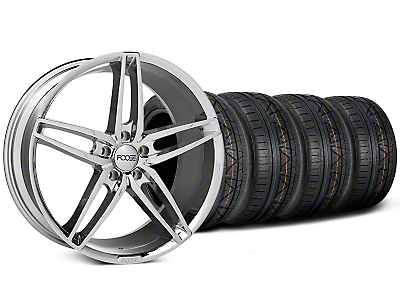 Staggered Foose Stallion Chrome Wheel & NITTO Invo Tire Kit - 20x8.5/10 (05-14 All)