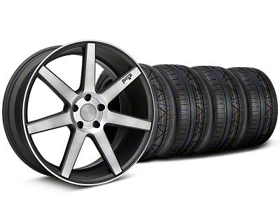 Niche Staggered Verona Black Double Dark Wheel & NITTO INVO Tire Kit - 20x9/10 (05-14 All)