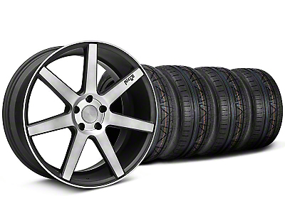 Niche Staggered Verona Black Double Dark Wheel & NITTO INVO Tire Kit - 20x9/10 (05-14 All)