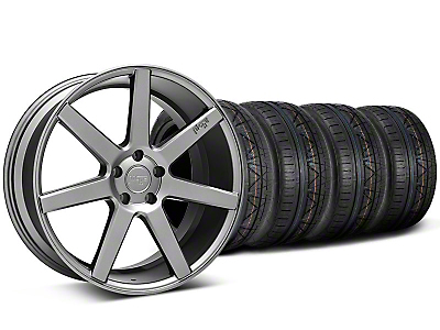 Niche Staggered Verona Anthracite Wheel & NITTO INVO Tire Kit - 20x9/10 (05-14 All)