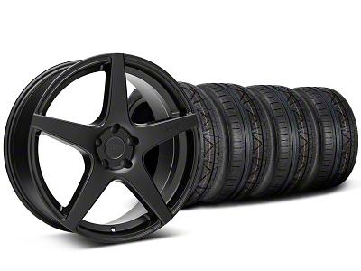 Niche Staggered GT5 Matte Black Wheel & NITTO INVO Tire Kit - 20x8.5/10.5 (05-14 All)