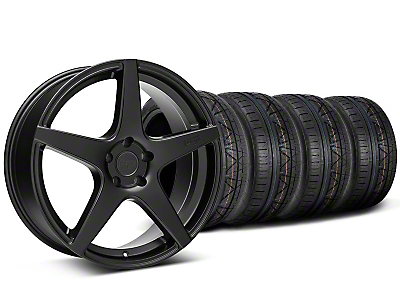 Niche Staggered Matte Black GT5 Wheel & NITTO INVO Tire Kit - 20x8.5/10.5 (05-14 All)