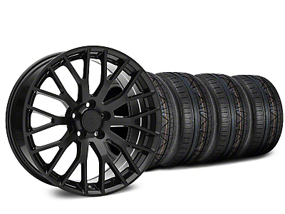 Staggered Performance Pack Style Black Wheel & NITTO Tire Kit - 20x8.5/10 (15-17 All)