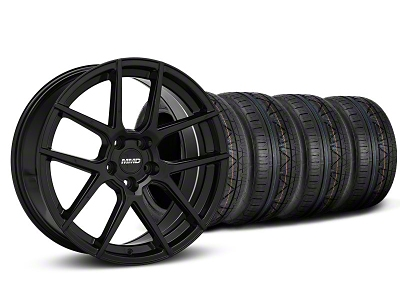 MMD Staggered Zeven Black Wheel & NITTO INVO Tire Kit - 20x8.5/10 (05-14 All)