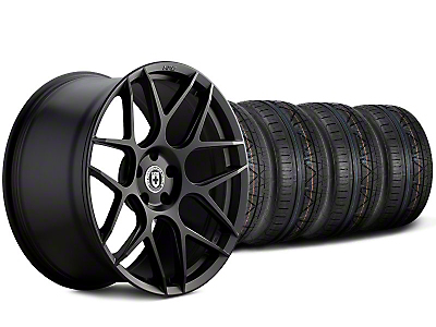 HRE Staggered Flowform FF01 Tarmac Black Wheel & NITTO Invo Tire Kit - 20x9.5/10.5 (05-14 All)
