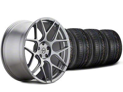 HRE Staggered Flowform FF01 Liquid Silver Wheel & NITTO Invo Tire Kit - 20x9.5/10.5 (05-14 All)