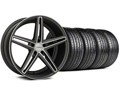 CV5 Matte Graphite Machined Wheel & Sumitomo Tire Kit - 20x9 (05-14 All)