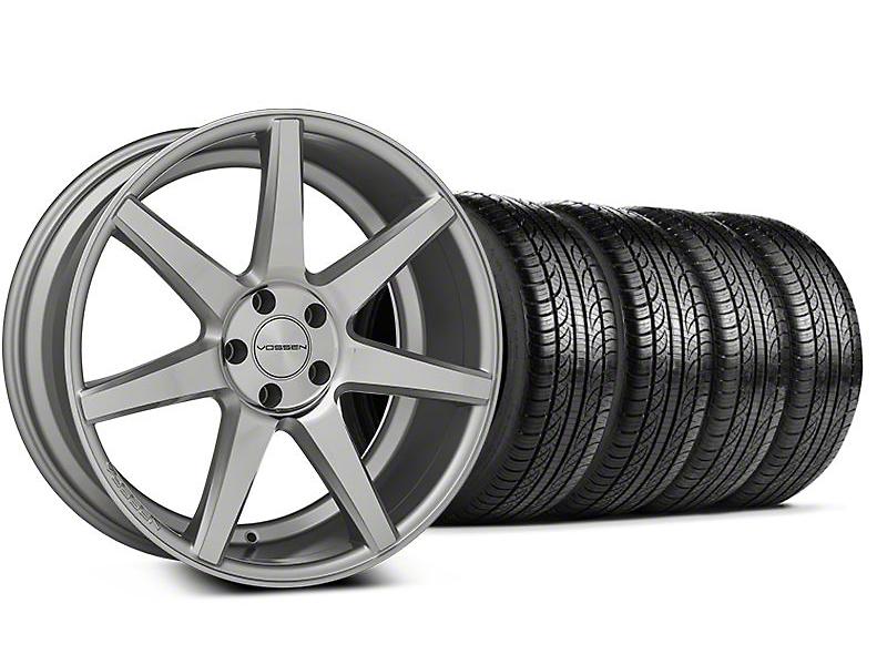 CV7 Silver Polished Wheel & Pirelli Tire Kit - 19x8.5 (05-14 All)