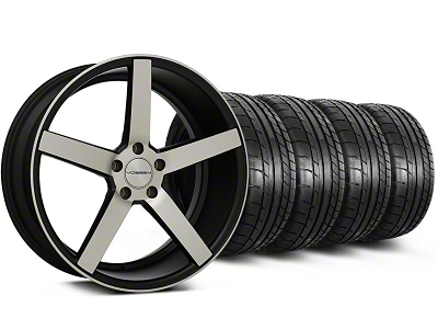 Matte Black Machined CV3 Wheel & Mickey Thompson Tire Kit - 19x8.5 (05-14 All)