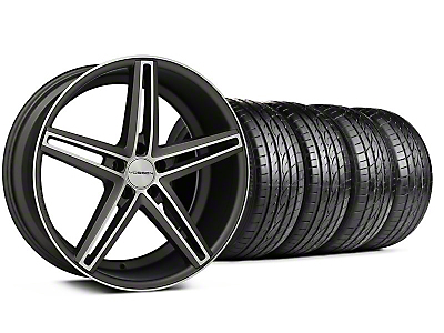 Staggered CV5 Matte Graphite Machined Wheel & Sumitomo Tire Kit - 20x9/10.5 (05-14 All)