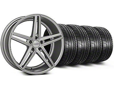 Staggered CV5 Silver Polished Wheel & Mickey Thompson Tire Kit - 20x9/10.5 (05-14 All)