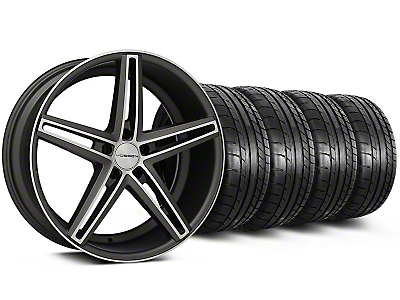 Staggered CV5 Matte Graphite Machined Wheel & Mickey Thompson Tire Kit - 20x9/10.5 (05-14 All)