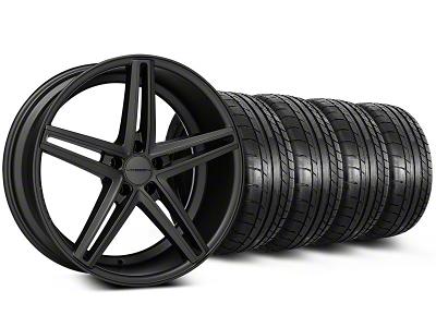 Staggered Matte Graphite CV5 Wheel & Mickey Thompson Tire Kit - 20x9/10.5 (05-14 All)