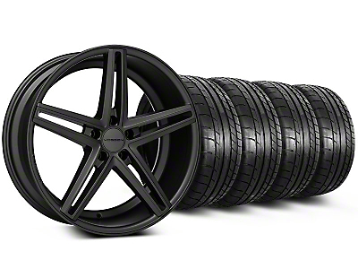 Staggered Matte Graphite CV5 Wheel & Mickey Thompson Tire Kit - 20x9/10.5 (05-14 All)