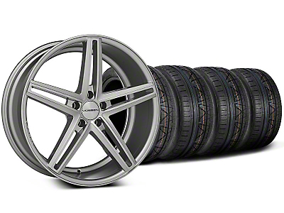Staggered CV5 Silver Polished Wheel & NITTO INVO Tire Kit - 20x9/10.5 (05-14 All)