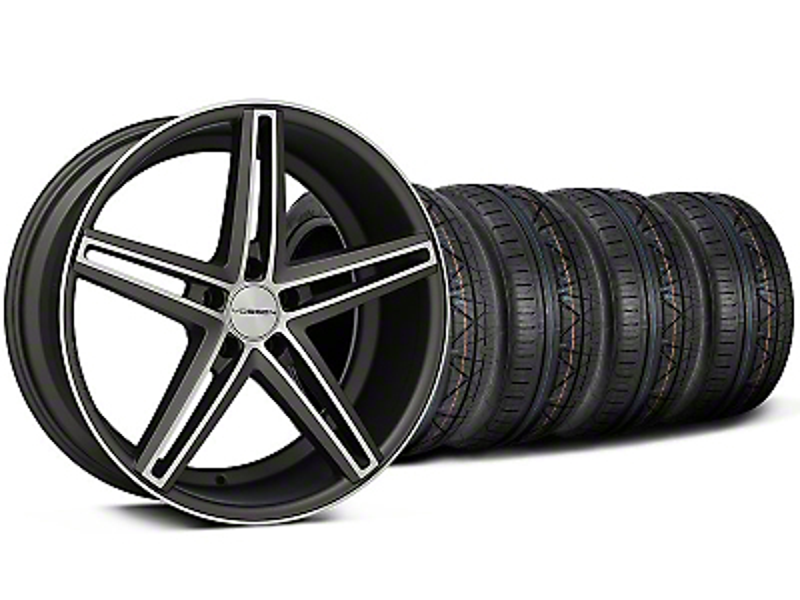 Staggered CV5 Matte Graphite Machined Wheel & NITTO INVO Tire Kit - 20x9/10.5 (05-14 All)